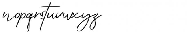 Attention Script Font LOWERCASE