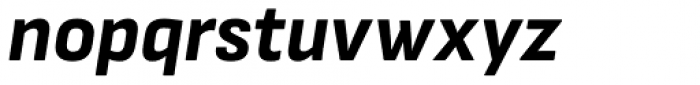Attractive Extra Bold Italic Font LOWERCASE