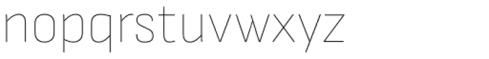 Attractive Semi Cond Hair Line Font LOWERCASE