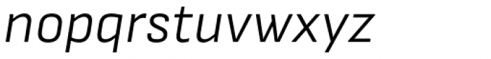 Attractive Semi Light Italic Font LOWERCASE
