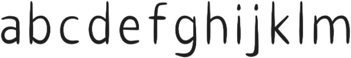 AUDREY SANS Regular otf (400) Font LOWERCASE
