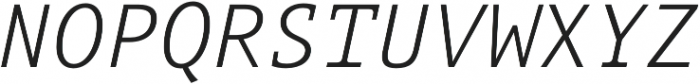 Aubusson Light Italic otf (300) Font UPPERCASE