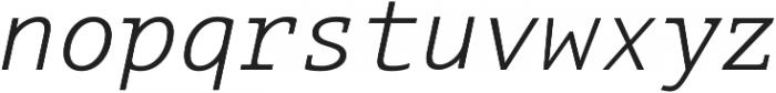 Aubusson Light Italic otf (300) Font LOWERCASE
