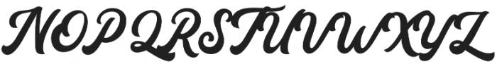 Auckland Script otf (400) Font UPPERCASE
