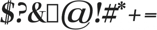 Audrey H Bold-italic otf (700) Font OTHER CHARS
