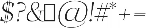 Audrey H Light-italic otf (300) Font OTHER CHARS