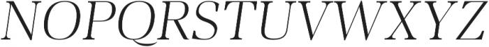 Audrey H Light-italic otf (300) Font UPPERCASE