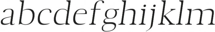 Audrey H Light-italic otf (300) Font LOWERCASE