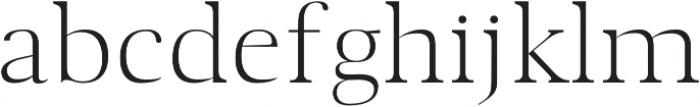 Audrey H Light otf (300) Font LOWERCASE