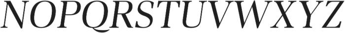 Audrey H Regular-italic otf (400) Font UPPERCASE