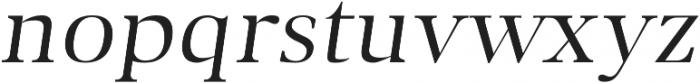 Audrey H Regular-italic otf (400) Font LOWERCASE