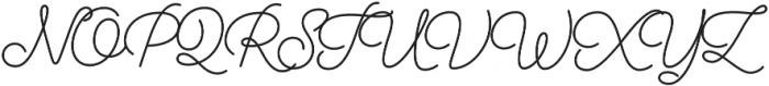 Audrey Script3 otf (700) Font UPPERCASE