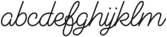 Audrey Script3 otf (700) Font LOWERCASE