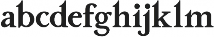 Aufa otf (400) Font LOWERCASE