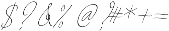 August Script otf (400) Font OTHER CHARS