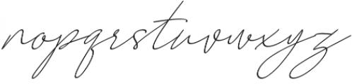 August Script otf (400) Font LOWERCASE