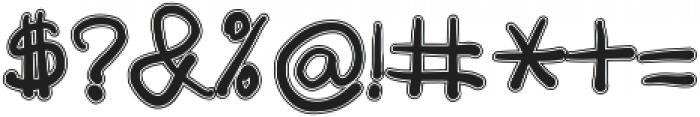 Aurada Contoured Typeface ttf (400) Font OTHER CHARS