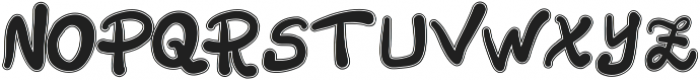 Aurada Contoured Typeface ttf (400) Font UPPERCASE