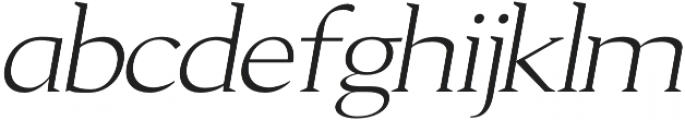 Aureate regular-italic otf (400) Font LOWERCASE