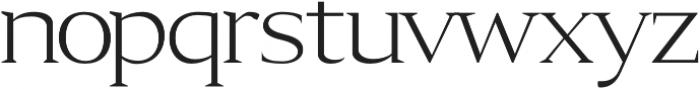 Aureate regular otf (400) Font LOWERCASE