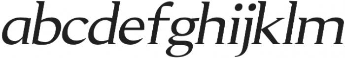 Aureate semi-bold-italic otf (600) Font LOWERCASE
