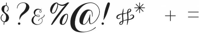 Aurella otf (400) Font OTHER CHARS