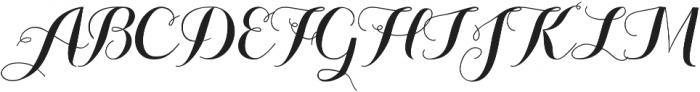 Aurella otf (400) Font UPPERCASE