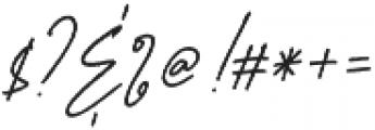 Aurelly Signature Slant ALT otf (400) Font OTHER CHARS