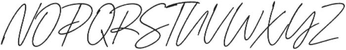 Aurelly Signature Slant ALT otf (400) Font UPPERCASE