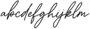 Aurelly Signature Slant ALT otf (400) Font LOWERCASE
