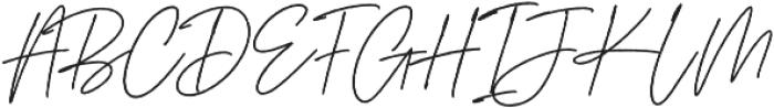 Aurelly Signature otf (400) Font UPPERCASE