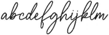Aurelly Signature otf (400) Font LOWERCASE