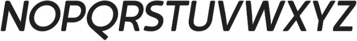Auro Medium Italic otf (500) Font UPPERCASE