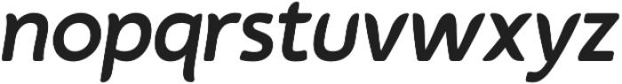 Auro Medium Italic otf (500) Font LOWERCASE