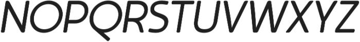 Auro Regular Italic otf (400) Font UPPERCASE
