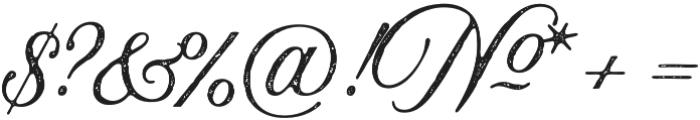 Aurora Aged Regular otf (400) Font OTHER CHARS