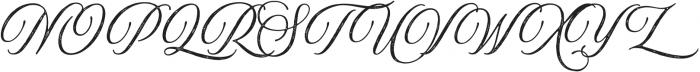 Aurora Aged Regular otf (400) Font UPPERCASE