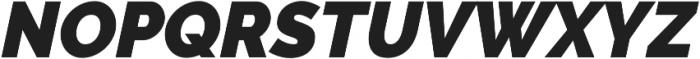 Aurora Black Italic otf (900) Font UPPERCASE