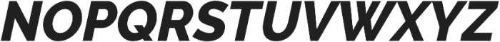 Aurora ExtraBold Italic otf (700) Font UPPERCASE