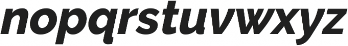 Aurora ExtraBold Italic otf (700) Font LOWERCASE