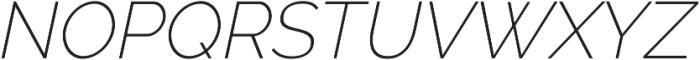 Aurora ExtraLight Italic otf (200) Font UPPERCASE