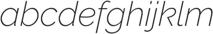 Aurora ExtraLight Italic otf (200) Font LOWERCASE