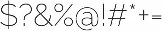 Aurora ExtraLight otf (200) Font OTHER CHARS