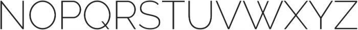 Aurora ExtraLight otf (200) Font UPPERCASE