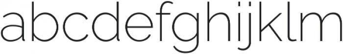 Aurora ExtraLight otf (200) Font LOWERCASE