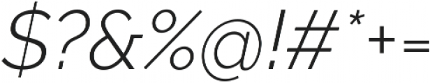Aurora Light Italic otf (300) Font OTHER CHARS