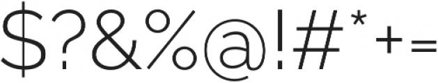 Aurora Light otf (300) Font OTHER CHARS
