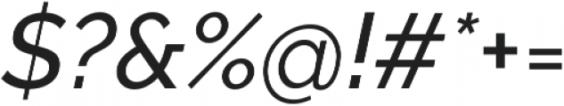 Aurora Medium Italic otf (500) Font OTHER CHARS