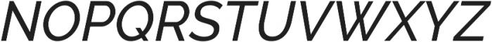 Aurora Medium Italic otf (500) Font UPPERCASE