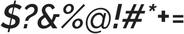 Aurora SemiBold Italic otf (600) Font OTHER CHARS